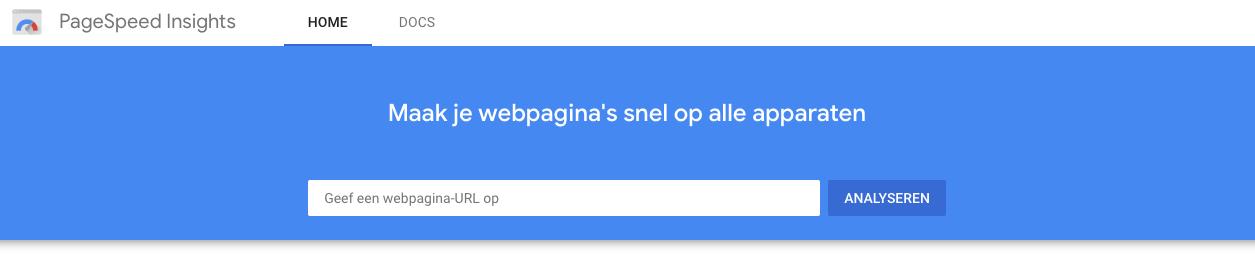 Google PageSpeed Insight test