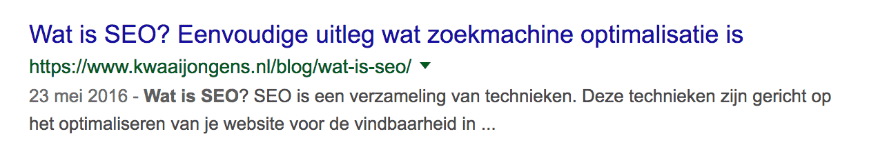 Metatags Wat is SEO