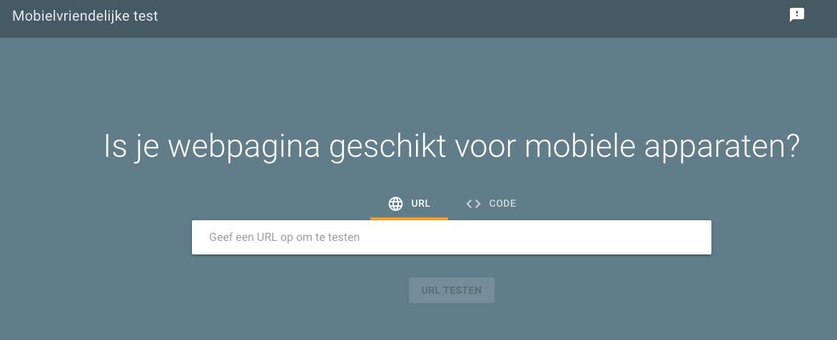 Mobielvriendelijke test van Google