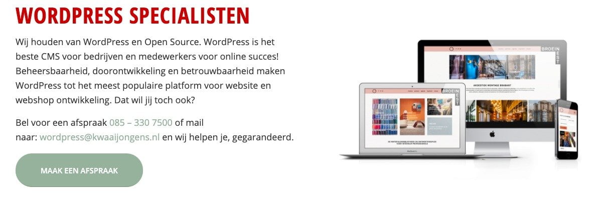 maak gebruik van ruimte in webdesign voor een goede website