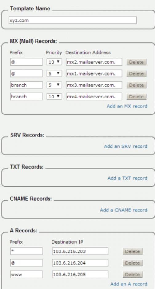 Zone-bestand DNS Wildcard