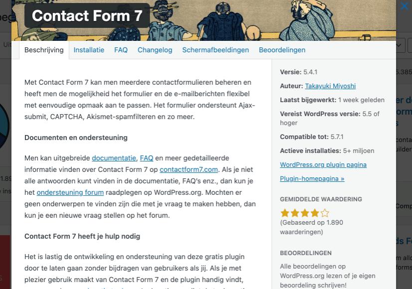 WordPress plug-ins selecteren