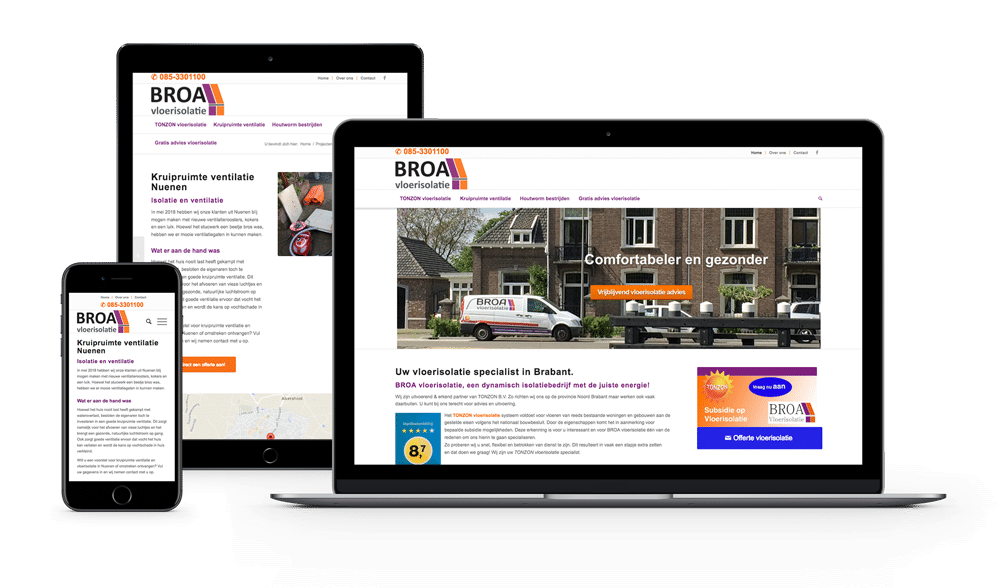 BROA Vloerisolatie | Kwaaijongens, webdesign en SEO