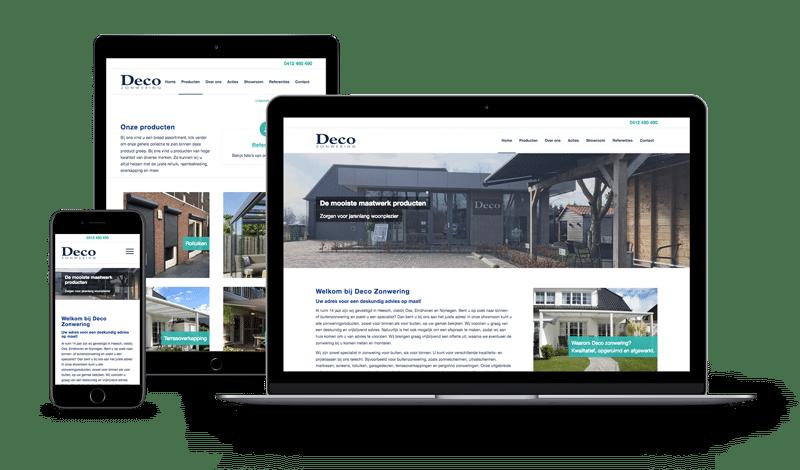 Webdesign | Deco Zonwering