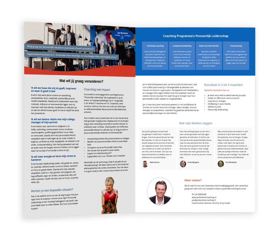 Webdesign en brochure MKB