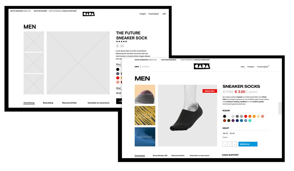 Mockup webdesign realisatie