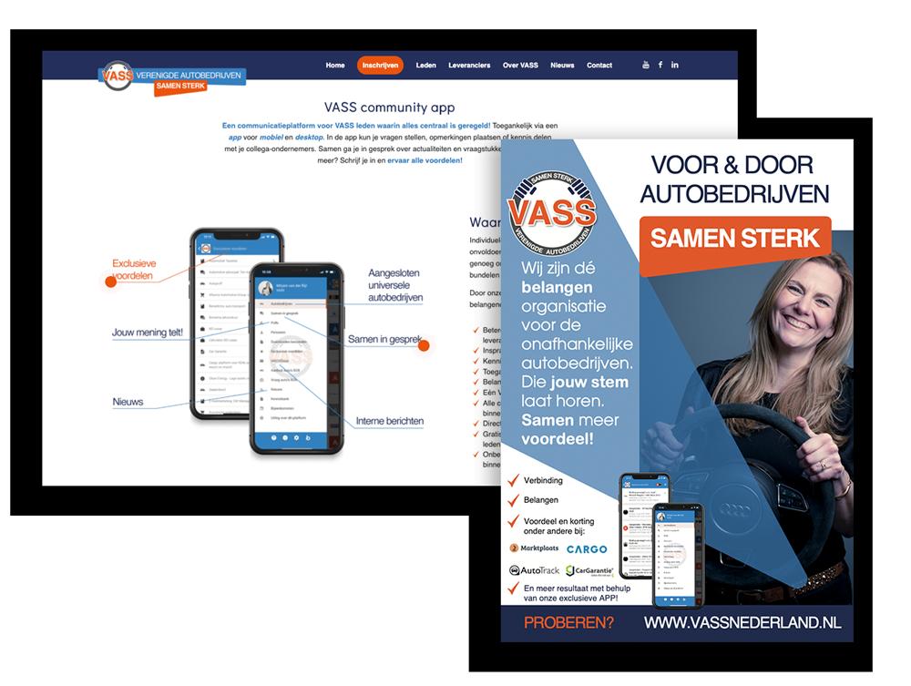 Huisstijl en Wordpress website VASS Nederland