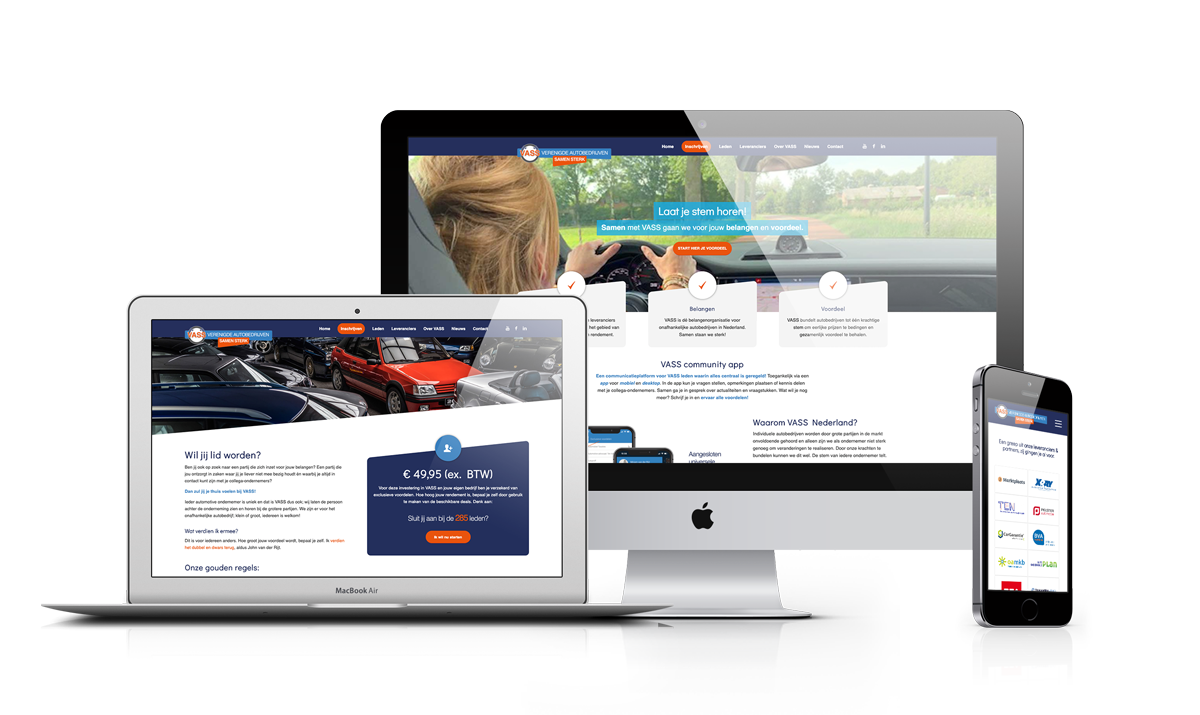 VASS Nederland WordPress website