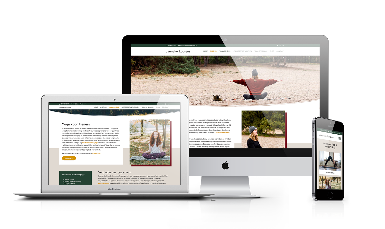 WordPress webdesign yogaschool