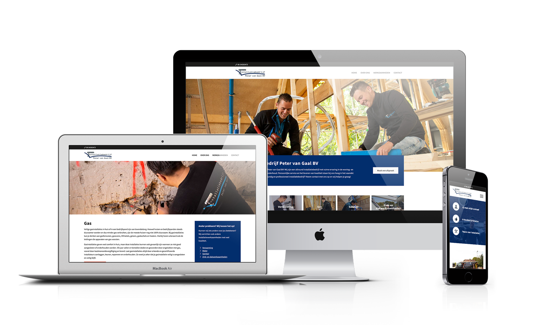 WordPress webdesign installatiebedrijf