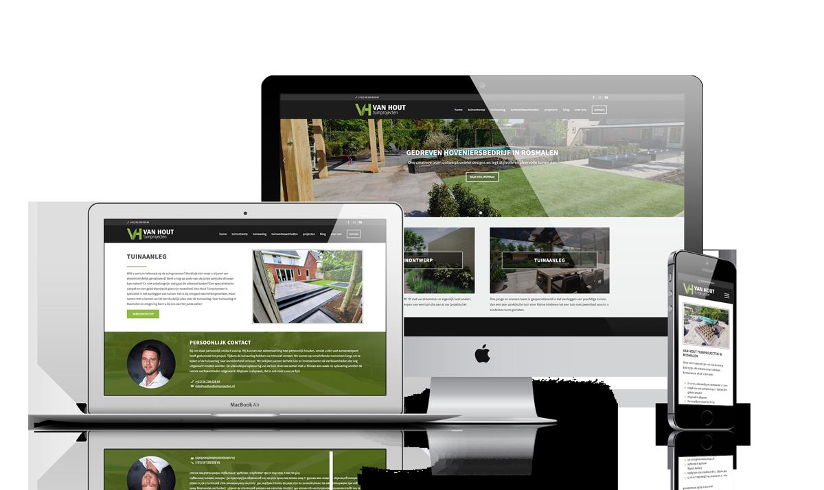 WordPress website voor hovenier