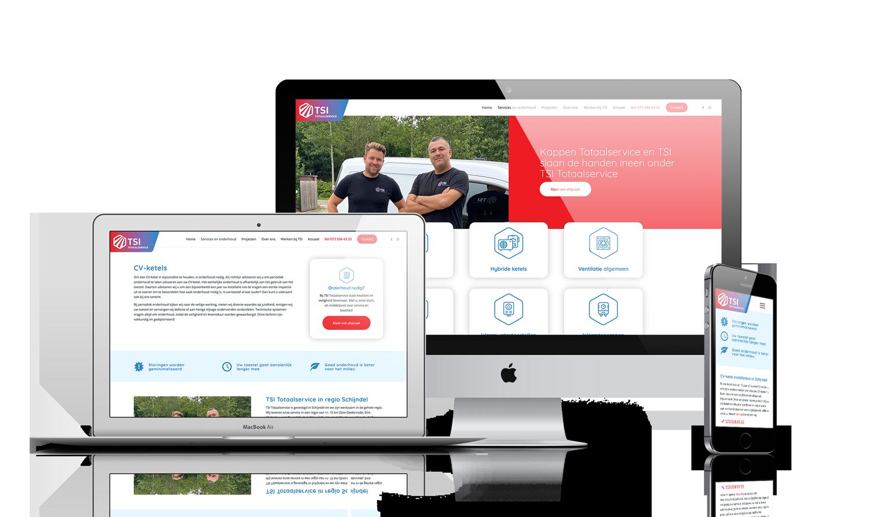 TSI Totaalservice website